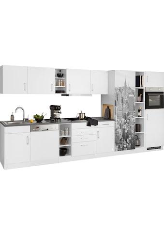 HELD MÖBEL Küchenzeile »Paris«, mit E-Geräten, Breite 400 cm kaufen