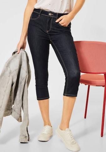 STREET ONE 3/4-Jeans »York«, mit Kontrastnähten kaufen