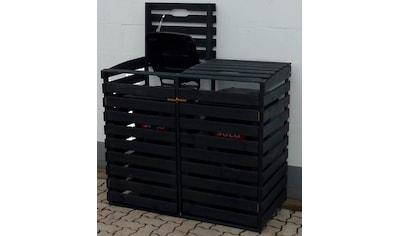 promadino Mülltonnenbox, für 2x120 l aus Holz, BxTxH: 130x63x111 cm kaufen