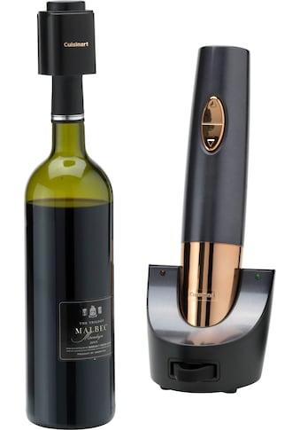 Cuisinart Weinflaschenöffner »CWO50E«, mit Vakuumverschluss, Folienschneider und... kaufen
