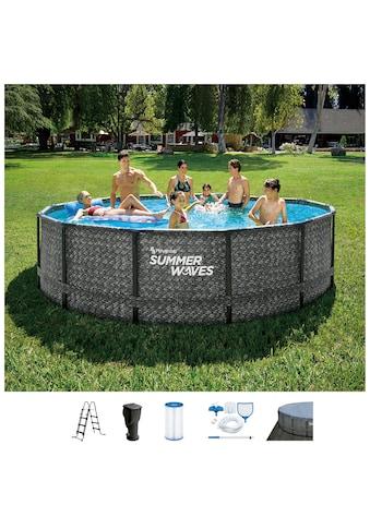 SummerWaves Rundpool »Elite«, (Set, 7 tlg.), ØxH: 427x107 cm kaufen