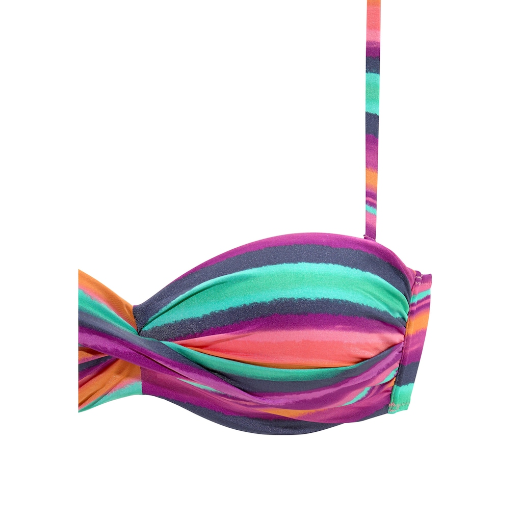 LASCANA Bandeau-Bikini-Top »Rainbow«, mit 5 Tragevariationen