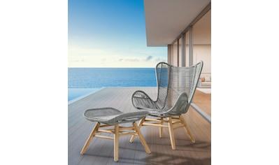 Best Loungesessel »Asmara«, Eukalyptus/Polyethylen, mit Hocker kaufen