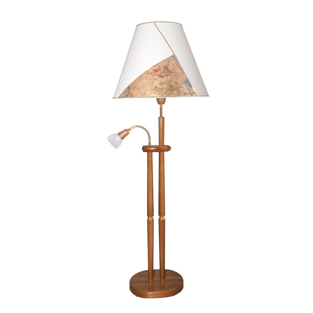 LED Stehlampe, E14-E27, Warmweiß, Mit Leseleuchte