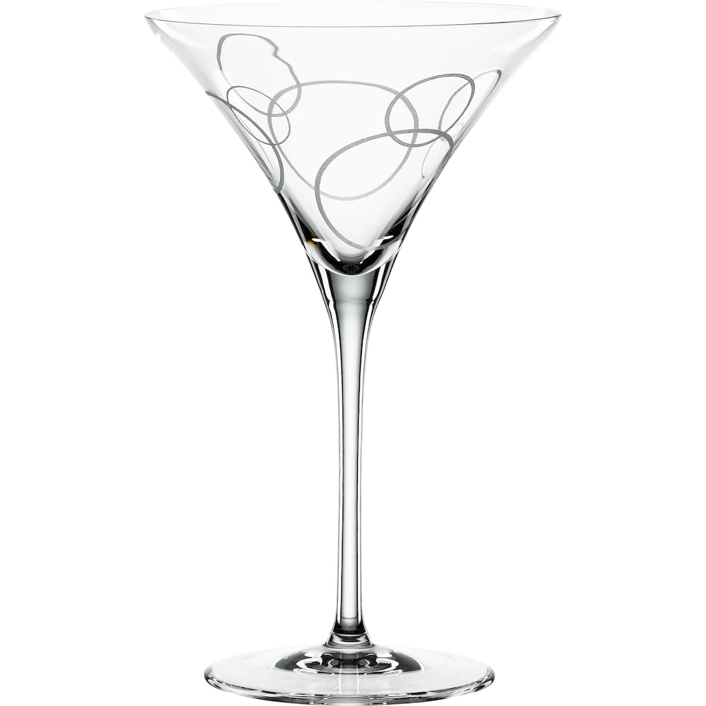 SPIEGELAU Cocktailglas »Circles«, (Set, 2 tlg.), 2-teilig, 220 ml