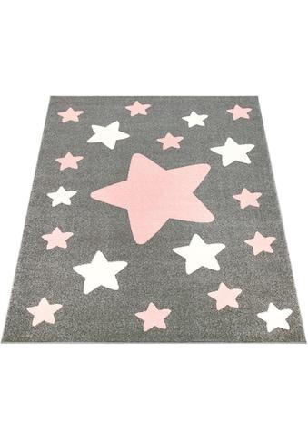 Paco Home Kinderteppich »Capri 330«, rechteckig, 11 mm Höhe, Kinder Design, Stern... kaufen