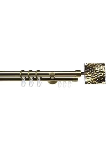 Liedeco Gardinenstange »Stilgarnitur 20 mm Blues Johnny«, 2 läufig-läufig, Fixmaß, Gardinenstange Komplett kaufen