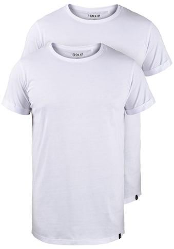 Solid Longshirt »Longo«, T-Shirt im 2er-Pack kaufen