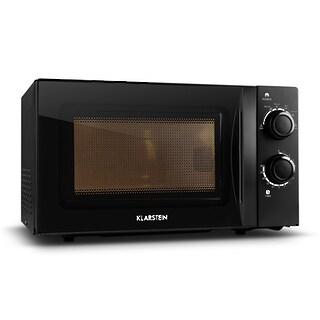 Klarstein Mikrowellen Ofen schwarz mit Drehteller 20L 700W