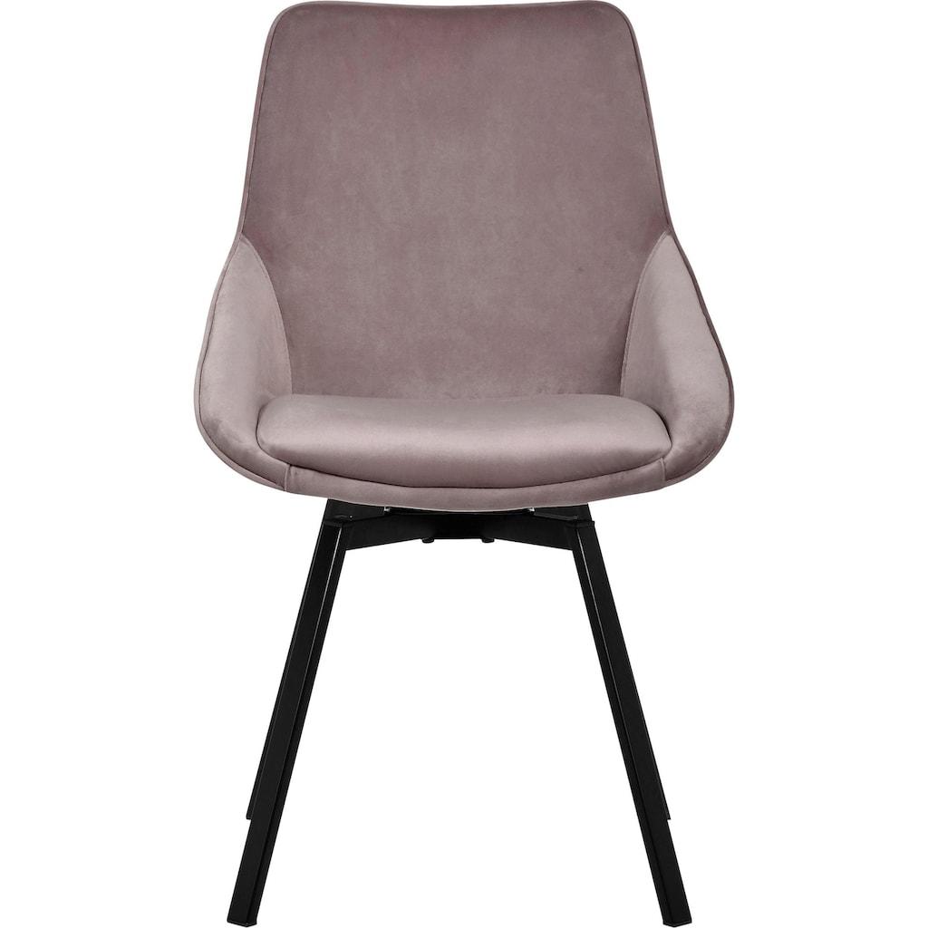 INOSIGN Esszimmerstuhl »Merisa«, 2er-Set mit gepolstertem Sitz und Rückenlehne, modernes Design, Drehbar