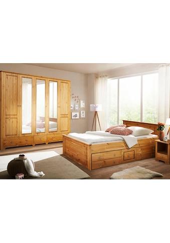 Home affaire Schlafzimmer-Set »Hugo«, (Set, 4 St.), Bett 180 cm, 5-trg Kleiderschrank... kaufen