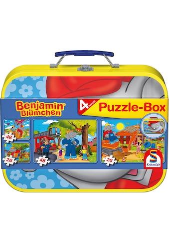 Schmidt Spiele Puzzle »Puzzlebox im Metallkoffer, Benjamin Blümchen®« kaufen