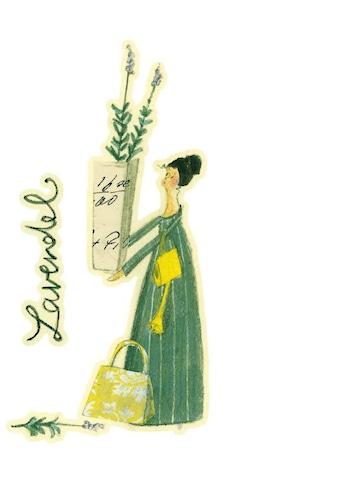 Wall-Art Wandtattoo »Kräuterfrau Küche Lavendel« kaufen