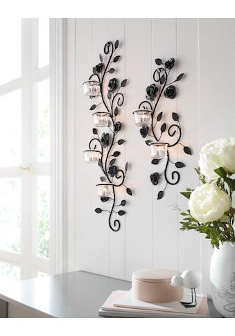 Home affaire Wandkerzenhalter »Blumenranke«, Wandleuchter, Wanddeko, Wanddekoration,... kaufen
