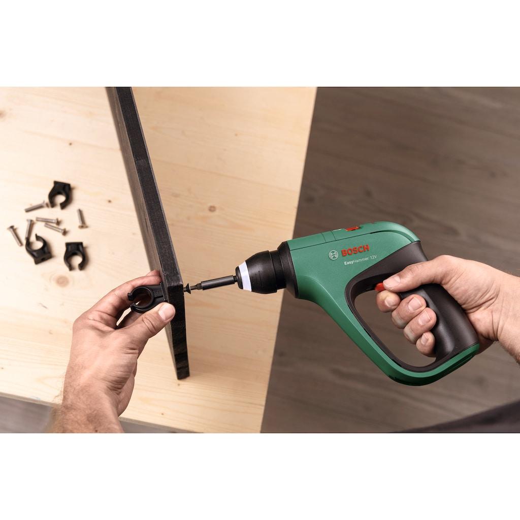 BOSCH Akku-Bohrhammer »EasyHammer 12V«, (Set), Universell einsetzbar, mit Akku, Ladegekabel, Koffer und Zubehör