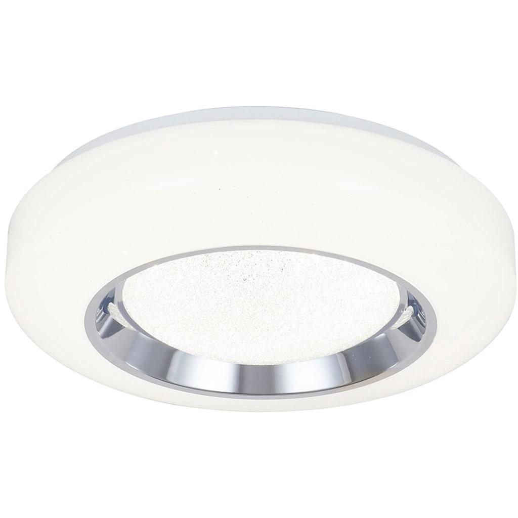 näve LED Deckenleuchte »Newcastle«, LED-Modul, Farbwechsler, dimmbar per Infrarot-Fernbedienung, Kristalleffekt, Farbwechsler, Memory- und Nachlichtfunktion