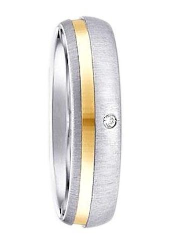 Firetti Trauring mit Gravur »glanz, gebürstet, Diamantschnitt, bicolor, 5,0 mm breit«,... kaufen