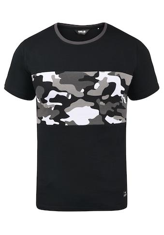 Solid Rundhalsshirt »Callux«, T-Shirt mit Tarnmuster-Motiv kaufen