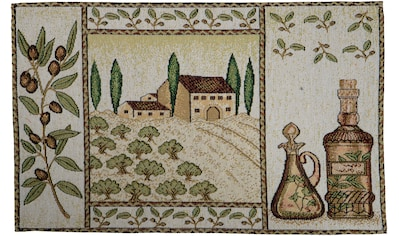 SPRÜGEL Platzset »Olivenhain«, (Set, 4 St.), Gobelin kaufen