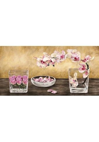 DELAVITA Kunstdruck »Orchideen und Rosen in Vasen«, (1 St.) kaufen