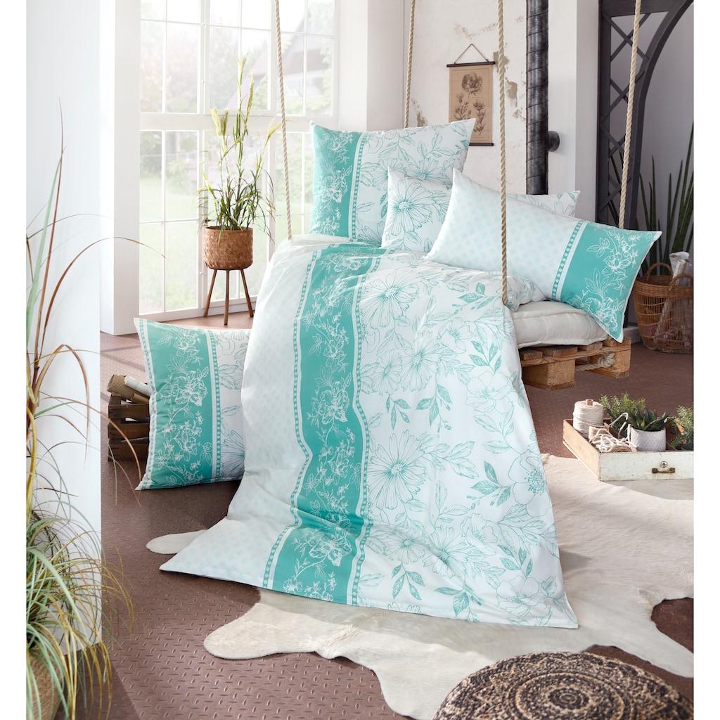 Home affaire Bettwäsche »Magarit«, mit Blüten und Muster
