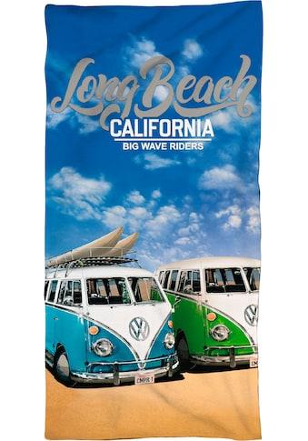 Volkswagen Strandtuch »Long Beach California«, (1 St.), mit Schriftzug kaufen