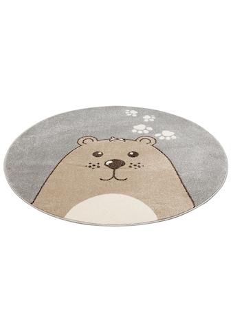 Lüttenhütt Kinderteppich »Bear«, rund, 14 mm Höhe, Bären-Motiv kaufen