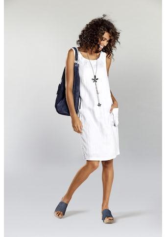Leinenkleid mit aufgesetzten Ballontaschen kaufen