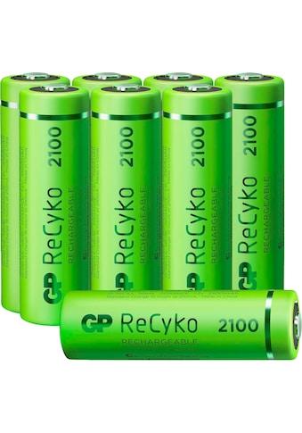 GP Batteries Akku »AA Akku NiMH 2100 mAh ReCyko 1,2V 8 Stück«, Mignon, 2100 mAh kaufen
