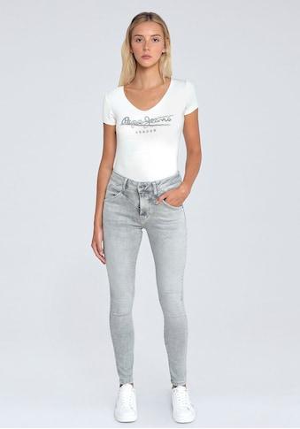 Pepe Jeans Röhrenjeans »REGENT RETRO«, im 5-Pocket-Stil mit hoher Leibhöhe im Retro-Look kaufen
