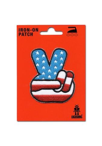 LOGOSHIRT Aufnäher mit Victory-Zeichen im Flaggendesign kaufen