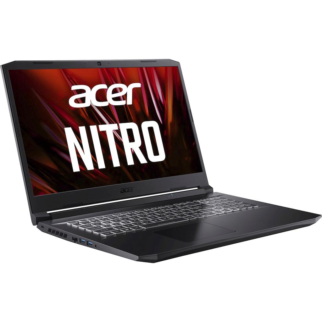 """Acer Notebook »Nitro 5 AN517-41-R77U«, (43,94 cm/17,3 """" AMD Ryzen 5 GeForce RTX 3060\r\n 512 GB SSD), Kostenloses Upgrade auf Windows 11, sobald verfügbar"""