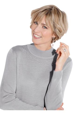 Classic Pullover mit silberfarbenen Metall - Plättchen kaufen