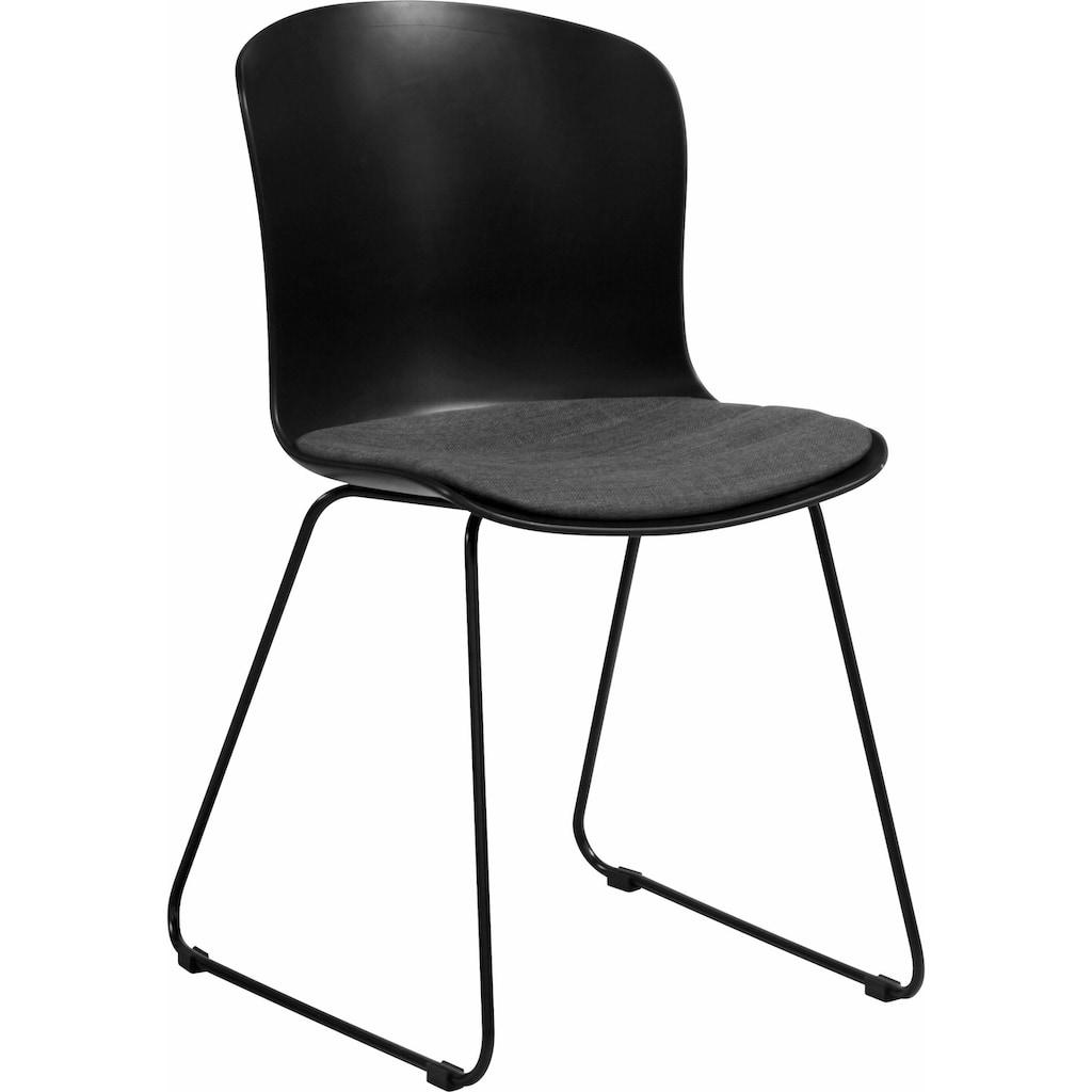 andas Schalenstuhl »Layla«, in zwei verschiedenen Farbvarianten, mit bequemen Webstoff Sitzkissen, Sitzhöhe 46 cm