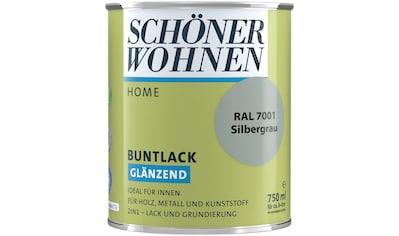 SCHÖNER WOHNEN-Kollektion Lack »Home Buntlack«, glänzend, 750 ml, silbergrau RAL 7001 kaufen