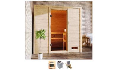 Karibu Sauna »Ricky«, 4,5-kW-Ofen mit int. Steuerung kaufen