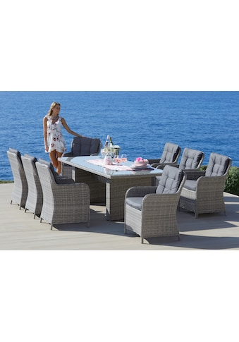 KONIFERA Gartenmöbelset »Menorca«, (25 tlg.), 8 Sessel, Tisch 230x100 cm, Polyrattan kaufen