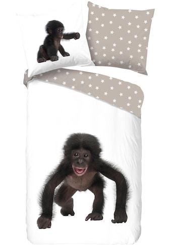 good morning Kinderbettwäsche »Gerard«, mit Affe kaufen