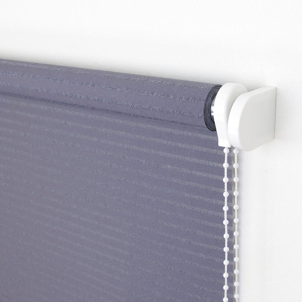 Liedeco Seitenzugrollo »Dekor Streifen«, Lichtschutz, ohne Bohren