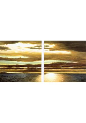 Home affaire Kunstdruck »DAN WERNER, Reflection on the sea I,II«, (Set, 2 St.) kaufen
