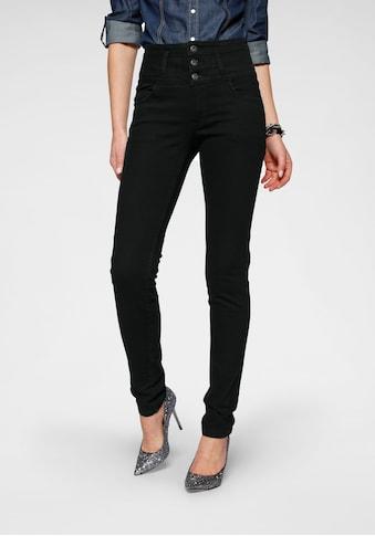 Arizona Slim-fit-Jeans »mit extra breitem Bund«, High Waist kaufen
