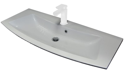 FACKELMANN Einbauwaschbecken »Rondo«, Gussmarmor, Breite 100 cm kaufen