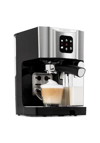 Klarstein Kaffeemaschine 1450 W 20 Bar Milchschäumer 3in1 grau kaufen