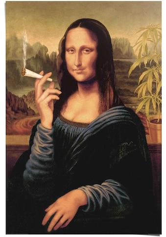 Reinders! Poster »Poster Mona Lisa joint«, Menschen, (1 St.) kaufen