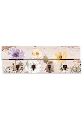 Artland Garderobenpaneel »Mohnblumen auf hölzernem Untergrund«, platzsparende... kaufen