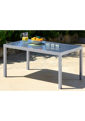 MERXX Gartentisch »Taviano«, Aluminium, 150x90 cm, silber kaufen