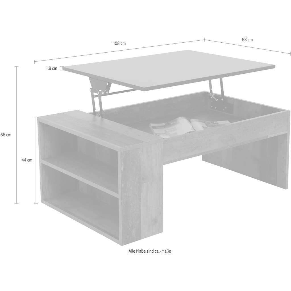HELA Couchtisch »Nico«, Tischplatte mit Hebefunktion