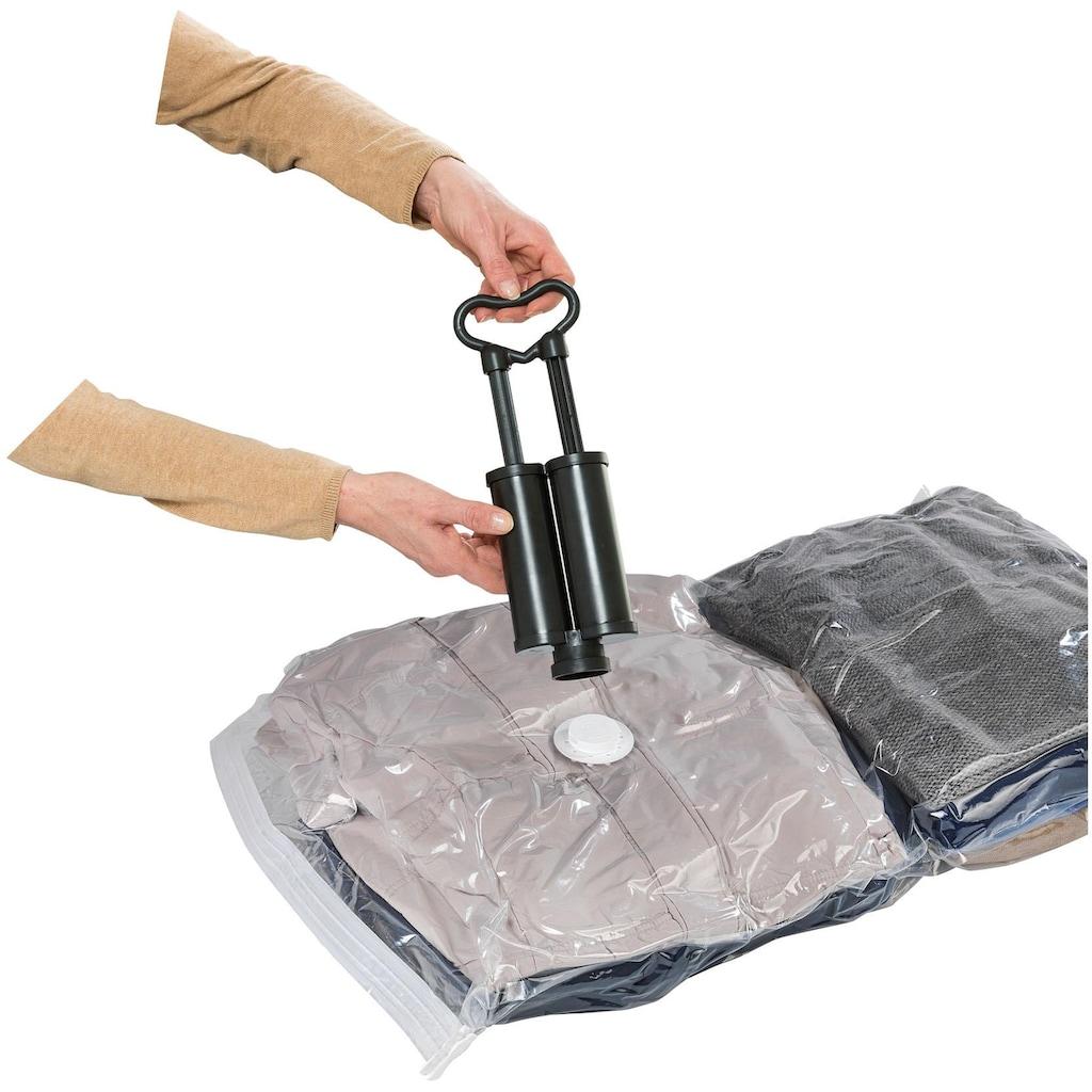 WENKO Vakuumierbeutel »Reise-Set«, (Set, 6 tlg.), mit Pumpe