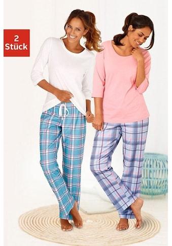 Arizona Pyjama, (2 Stück), mit passenden Basicshirts kaufen