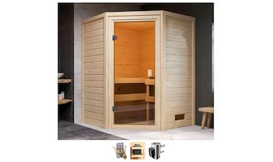 Karibu Sauna »Anni«, 3,6-kW-Plug & Play Ofen mit int. Steuerung kaufen